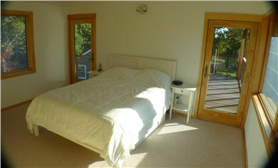 Chilmark Martha's Vineyard vacation rental - Master bedroom with doors to deck