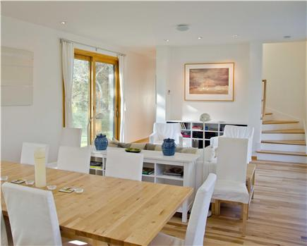 Chilmark Martha's Vineyard vacation rental - Living Room to Upstairs
