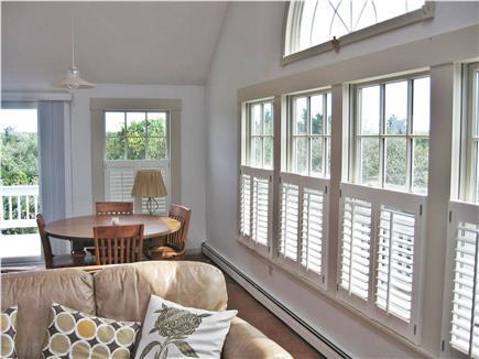 Katama - Edgartown Martha's Vineyard vacation rental - Dining with seating for 4-6 & access thru slider to deck