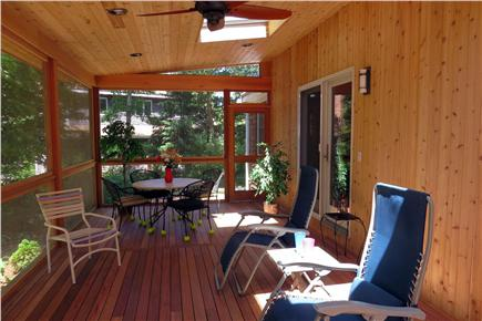 Vineyard Haven Martha's Vineyard vacation rental - New, spacious, screened-in porch was just completed!