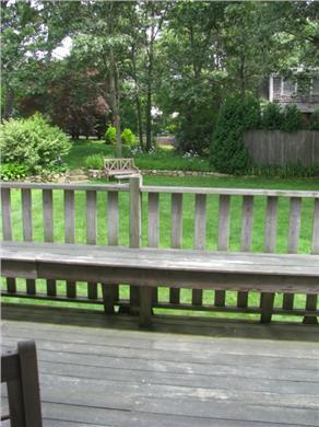 Oak Bluffs Martha's Vineyard vacation rental - View of back yard from deck