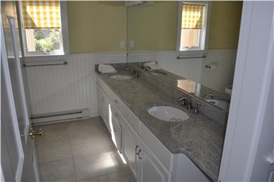 Katama - Edgartown, katama Martha's Vineyard vacation rental - Lower level full bath & shower. Tile/granite/subway tile shower