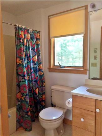 West Tisbury, Lambert's Cove area off State  Martha's Vineyard vacation rental - Upstairs bathroom with tub/shower
