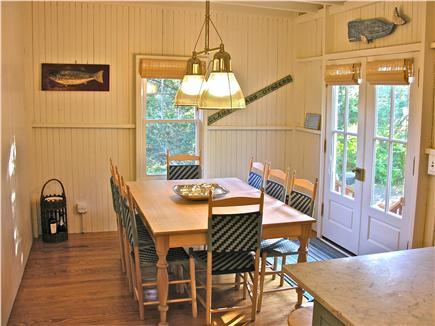 Oak Bluffs Martha's Vineyard vacation rental - Eating area opens to back deck