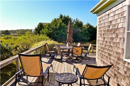 Katama - Edgartown, Edgartown Martha's Vineyard vacation rental - Relax  or dine on the deck