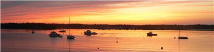 Oak Bluffs Martha's Vineyard vacation rental - Sunset over the Lagoon from private beach