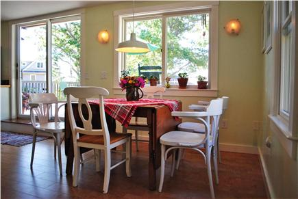 Oak Bluffs Martha's Vineyard vacation rental - Dining area & slider to deck with Lagoon views
