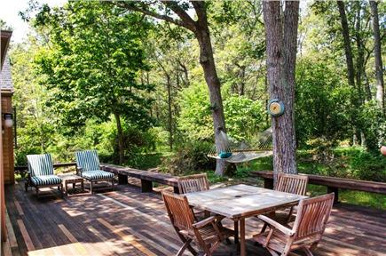Vineyard Haven Martha's Vineyard vacation rental - Large Deck with hammock and seating/dining areas