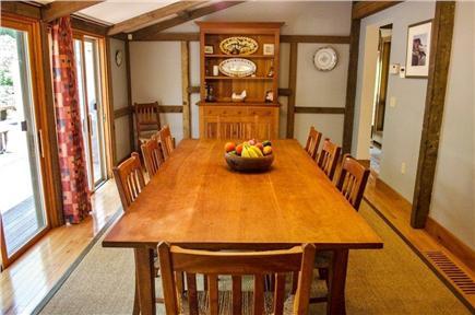 Vineyard Haven Martha's Vineyard vacation rental - Dining room overlooking deck seats 12