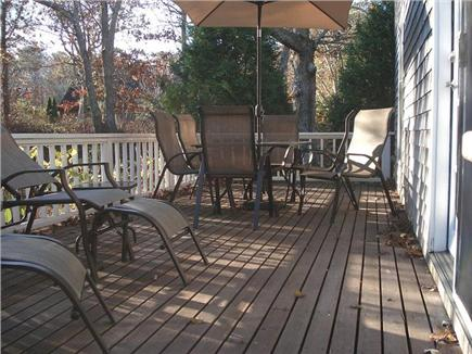 Oak Bluffs Martha's Vineyard vacation rental - Private, sun-filled deck with dining area