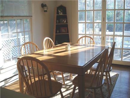 Oak Bluffs Martha's Vineyard vacation rental - Bright dining area comfortably seats 8 w/French doors to deck