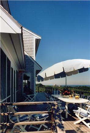 Aquinnah Martha's Vineyard vacation rental - Ice Tea on the huge Deck
