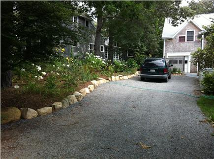 Oak Bluffs, East Chop Martha's Vineyard vacation rental - Driveway with garage and apartment in rear
