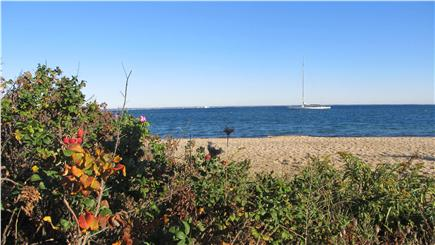 Oak Bluffs Lagoon Pond area Martha's Vineyard vacation rental - View of Eastville Beach just over a mile away