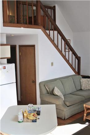 Oak Bluffs Lagoon Pond area Martha's Vineyard vacation rental - Stairs to Master Bedroom from living area