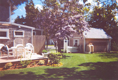 Oak Bluffs, Historic Copeland District  Martha's Vineyard vacation rental - Large backyard with sundeck