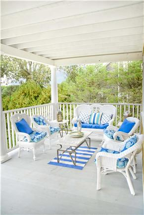Oak Bluffs, East Chop Martha's Vineyard vacation rental - Relax on the porch with antique wicker