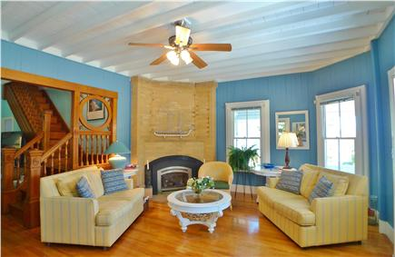 Oak Bluffs Martha's Vineyard vacation rental - 2nd view of Living area with gas fireplace