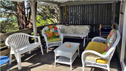 Oak Bluffs Martha's Vineyard vacation rental - Seating area at covered section of deck