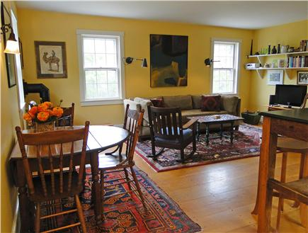 Chilmark Martha's Vineyard vacation rental - Open floor plan with living and dining area
