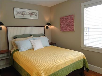 Chilmark Martha's Vineyard vacation rental - Queen size bedroom with ceiling fan and built in dressers
