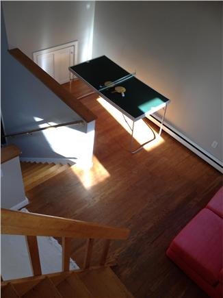 West Tisbury Martha's Vineyard vacation rental - View of balcony mini ping pong table taken from loft stairs