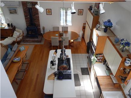 Edgartown Martha's Vineyard vacation rental - Kitchen view from loft