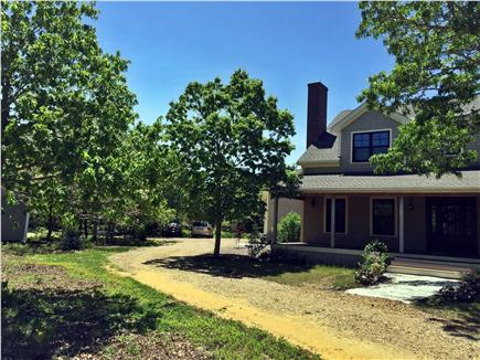 West Tisbury Martha's Vineyard vacation rental - Long wrap around driveway with plenty of parking