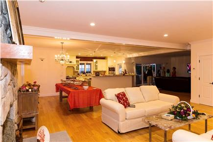 West Tisbury Martha's Vineyard vacation rental - Large open area of kitchen, living room and den