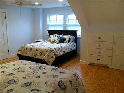West Tisbury Martha's Vineyard vacation rental - Blue room bedroom upstairs with two queens and builts in