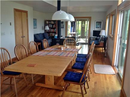 Aquinnah Martha's Vineyard vacation rental - Dinning room  with table for 10 and Living room