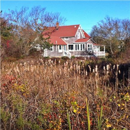 Oak Bluffs, Waban Park Martha's Vineyard vacation rental - Looking at Easy Breezy from Farm Pond.