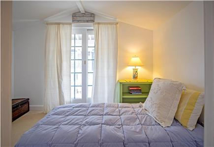 Oak Bluffs Martha's Vineyard vacation rental - 2nd Bedroom with twin bed, closet and sliding doors