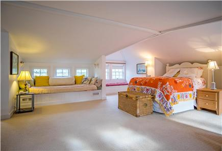 Oak Bluffs Martha's Vineyard vacation rental - Spacious bedroom with queen bed and extra large window seat/bed