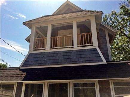 Oak Bluffs, Copeland Historic District Martha's Vineyard vacation rental - 2nd floor balcony with beach views.