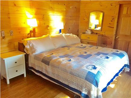 Oak Bluffs, Copeland Historic District Martha's Vineyard vacation rental - 1st Floor bedroom, king bed, window AC.