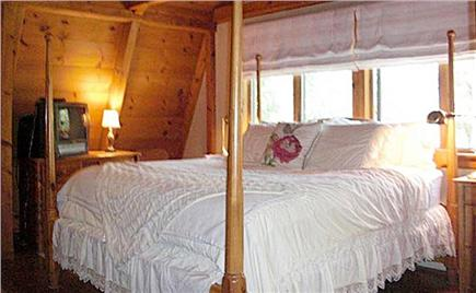Chilmark Martha's Vineyard vacation rental - Master Bedroom with Fireplace and TV