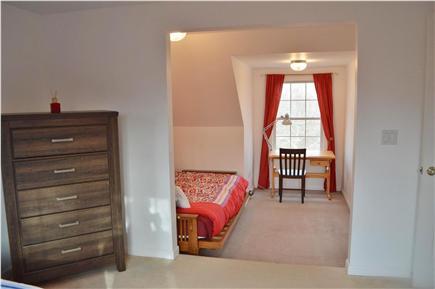 Edgartown Martha's Vineyard vacation rental - Full size Futon and Work Desk in Twin Bedroom
