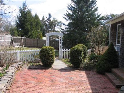 Edgartown Martha's Vineyard vacation rental - Brick and bluestone patio with pergola and outdoor furniture