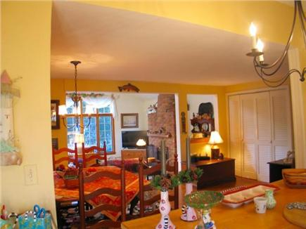 Edgartown Martha's Vineyard vacation rental - All open Kitchen, dining room and step-down sunny living room