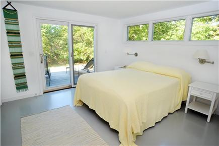 Chilmark Martha's Vineyard vacation rental - Guest Quarters queen bed with half bath and outdoor shower