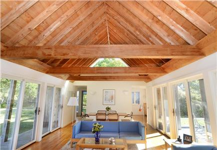 Chilmark Martha's Vineyard vacation rental - Beautiful living room with sliders to deck and patio