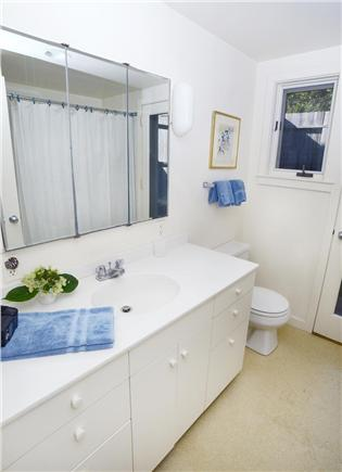 Chilmark Martha's Vineyard vacation rental - Master bath with tub shower and outdoor shower