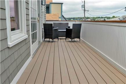 Oak Bluffs Martha's Vineyard vacation rental - Second floor deck off of the living room with harbor views.
