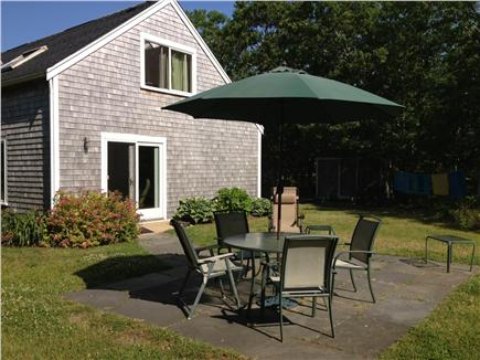 West Tisbury Martha's Vineyard vacation rental - East side of House and patio