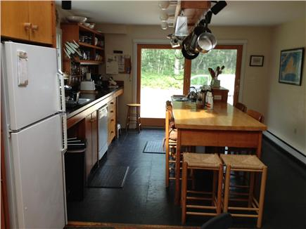West Tisbury Martha's Vineyard vacation rental - Kitchen and sliders to the patio and yard