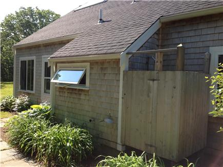 West Tisbury Martha's Vineyard vacation rental - Back of house and outdoor shower