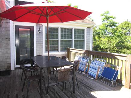 Edgartown Martha's Vineyard vacation rental - Private back deck off of the family room