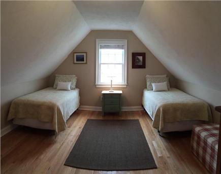 Edgartown Martha's Vineyard vacation rental - 2nd floor twin Bedroom is accessed thru the queen bedroom