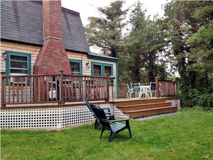 Vineyard Haven Martha's Vineyard vacation rental - Backyard with deck, grill and seating